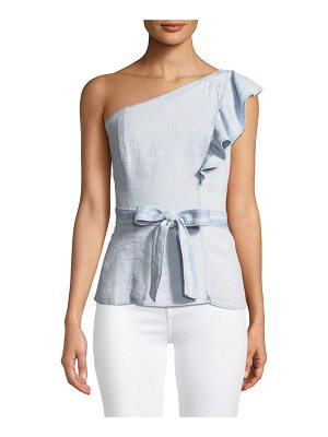 PAIGE Cantina One-Shoulder Ruffle Top