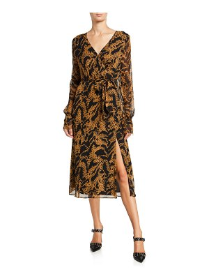 PAIGE Chamomile Printed Long-Sleeve Wrap Dress