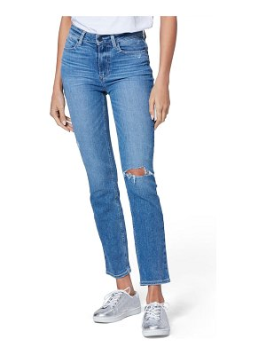 PAIGE cindy high waist ripped ankle straight leg jeans