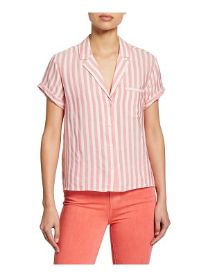 PAIGE Colwyn Striped Button-Down Shirt