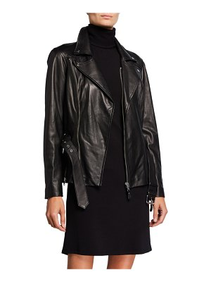 PAIGE Dita Leather Moto Jacket