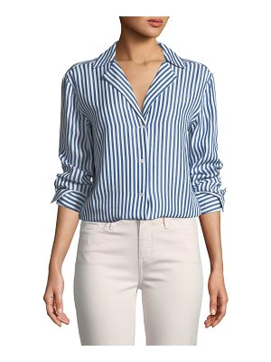 Damaris Tie-Front Button-Down Top Paige Outlet Extremely New Styles Sale Online Limit Offer Cheap Clearance Amazing Price yjIZ3Wg1B