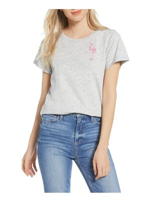 PAIGE embroidered flamingo cotton blend tee