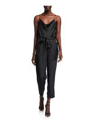 PAIGE Giovanna Fluid-Twill Cowl-Neck Jumpsuit