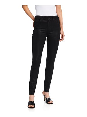 PAIGE Hoxton Coated Ultra-Skinny Jeans
