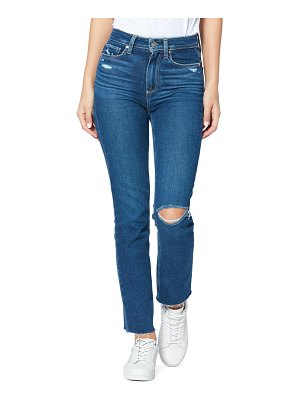 PAIGE hoxton ripped high waist ankle skinny jeans