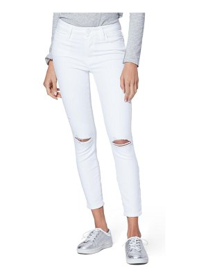 PAIGE hoxton ripped high waist crop slim jeans