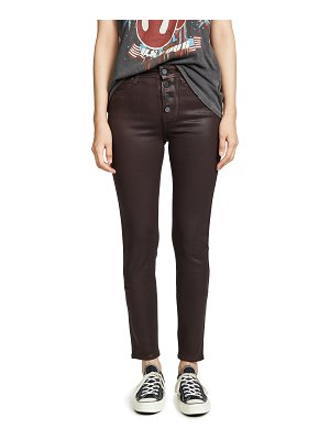 PAIGE hoxton slim jeans with exposed buttons