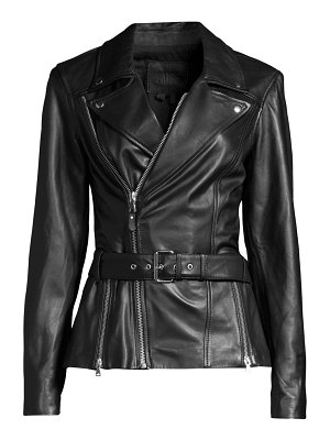 Paige Jeans dita belted leather jacket
