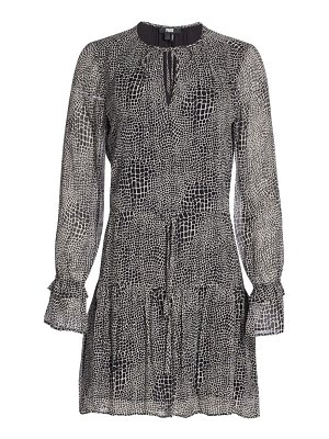 Paige Jeans francie crocodile print silk dress