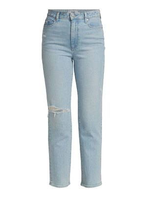 Paige Jeans noella high-rise destructed straight jeans