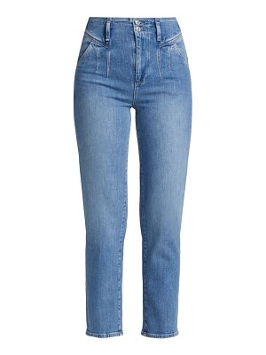 Paige Jeans sarah pleated straight-leg ankle jeans