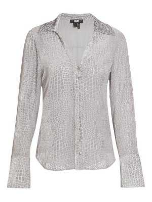 Paige Jeans toscani crocodile burnout blouse