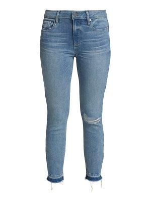 Paige Jeans verdugo distressed mid-rise crop skinny jeans