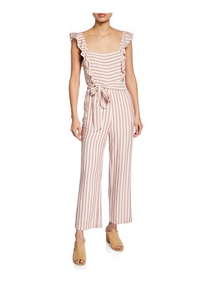PAIGE Marino Striped Square-Neck Jumpsuit