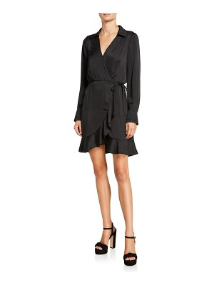 PAIGE Parisa Long-Sleeve Wrap Dress