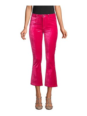 Paige Jeans roxxi high-rise velvet ankle flare jeans