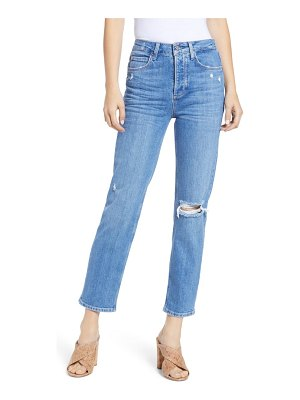 PAIGE sarah patch high waist ankle straight leg jeans