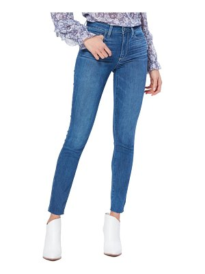 PAIGE transcend hoxton high waist raw ankle skinny jeans