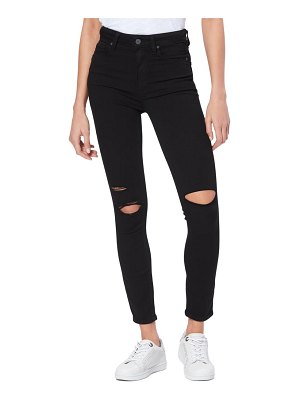 PAIGE transcend margot high waist ripped ankle skinny jeans