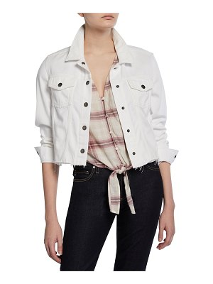 PAIGE Vivienne Relaxed Jacket with Raw Hem