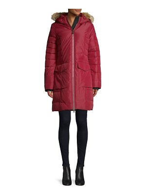 Pajar Canada Layla Quilted Fox Fur Trim Down Coat