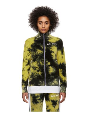 Palm Angels black and yellow chenille tie-dye track jacket