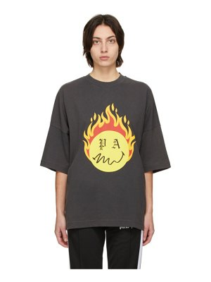 Palm Angels black smiley edition burning head t-shirt