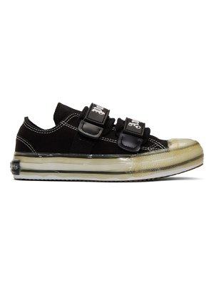 Palm Angels black velcro vulcanized sneakers
