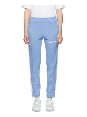 Palm Angels blue and white slim lounge pants