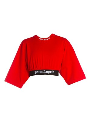 Palm Angels cropped logo tee
