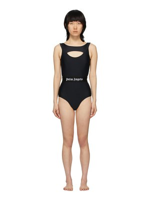 Palm Angels cut-out logo one-piece swimsuit