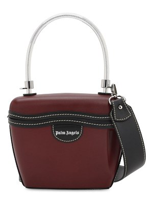 Palm Angels Leather top handle bag