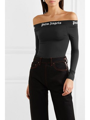 Palm Angels off-the-shoulder stretch-jersey bodysuit