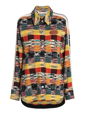 Palm Angels X Missoni knitted button-up shirt