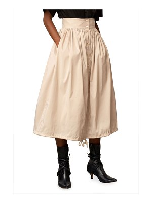 PALMER/HARDING First Moment Button-Front Midi Skirt