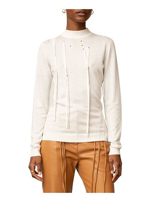 PALMER/HARDING I Love You Pullover Sweater with Ties