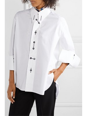 PALMER/HARDING palmer//harding - linked cotton-blend poplin shirt