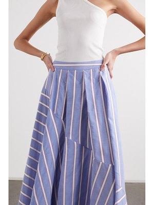 PALMER/HARDING palmer//harding - pleated striped lyocell-blend maxi skirt
