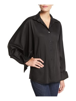 PALMER/HARDING Solo Point-Collar Twill Button-Front Shirt