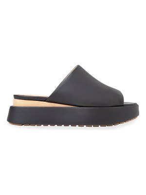 Paloma Barcelo Caine Leather Wedge Sandals