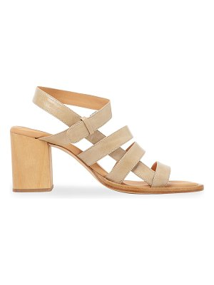 Paloma Barcelo Pilaya Leather Strappy Heel Sandals