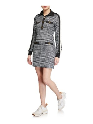Pam & Gela Glen Tart Long-Sleeve Mini Track Dress