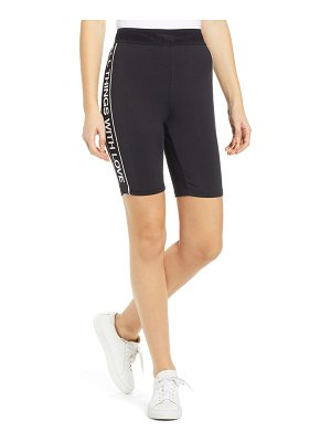 Pam & Gela logo side stripe bike shorts