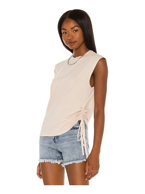 Pam & Gela side ruched muscle tee