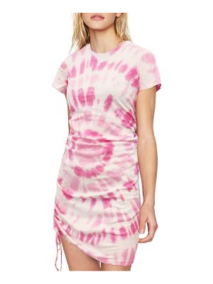 Pam & Gela tie dye side ruched t-shirt dress