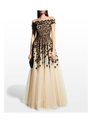 Pamella Roland Beaded Tulle Gown- Exclusive Cut