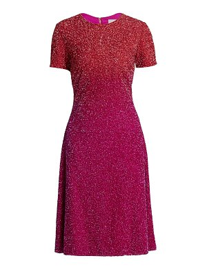 Pamella Roland ombré sequin cocktail dress