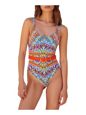 PAOLITA Calliope Azar Reversible One-Piece Belted Swimsuit