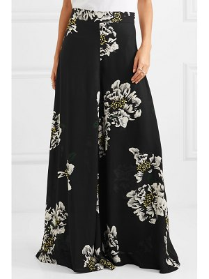 PAPER London floral-print crepe wide-leg pants